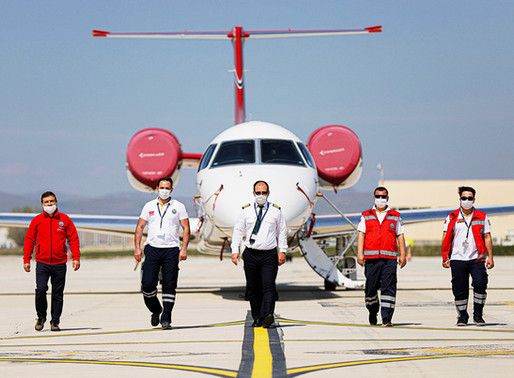 Air Ambulance Mission under Challenging COVID-19 Conditions