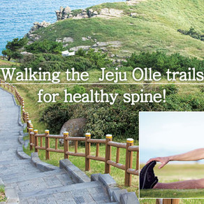 เดินทางในเส้นทาง Jeju Olle เพื่อสุขภาพที่ดีของกระดูกสันหลัง