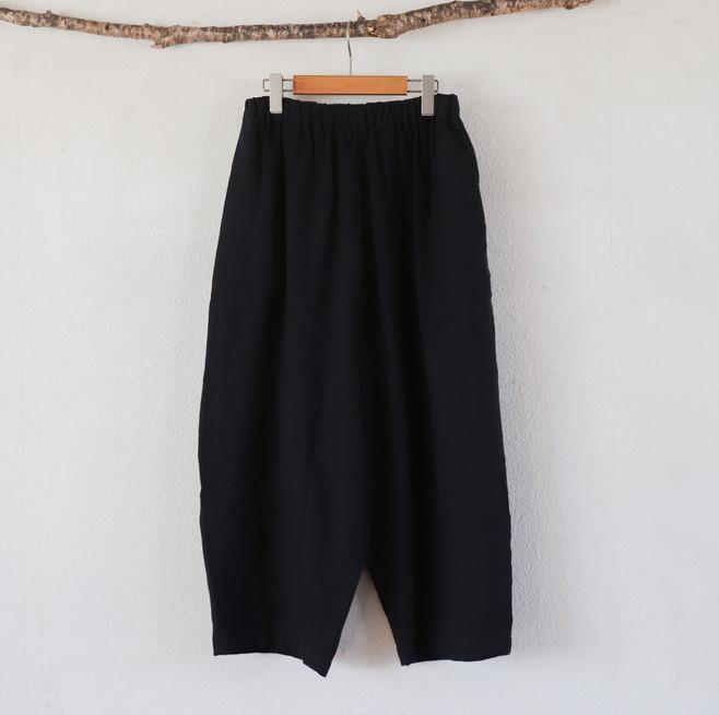 サルエルテーパードパンツ(¥7,900₊tax相当) 麻55% 綿45% パンツ丈88㎝