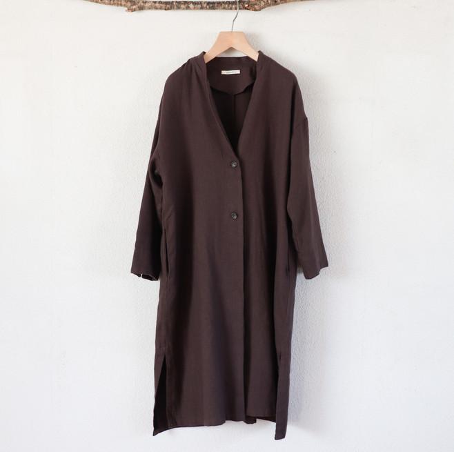 ローブコート(¥9,800₊tax相当) 麻55% 綿45% 着丈110㎝