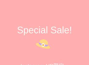 HP・Instagram限定 SALE!