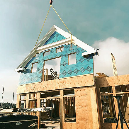 Piecing house together right on the beac