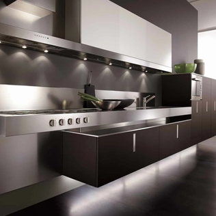 Floating Italian Kitchen Cabinets