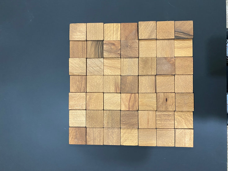Solid Wood Cube Tiles - 3D Only $30.00/SF