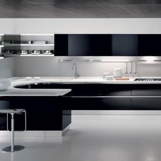 Curvy Italian Kitchen Cabinets