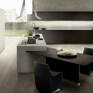 Italian Kitchen Cabinets with Invisible Handle