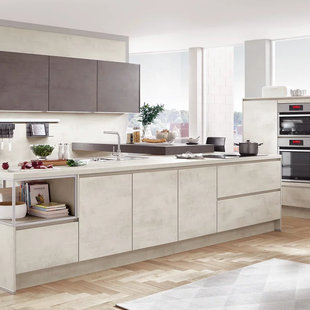 Contemporary German Kitchens with Concrete Finish