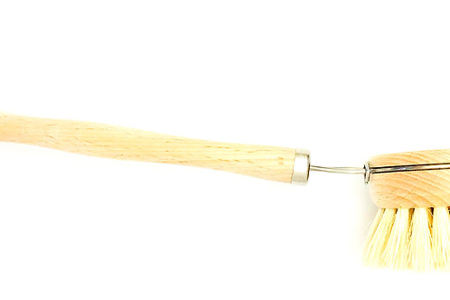 DISH BRUSH | WHITE TEAKWOOD & AGAVE FIBER