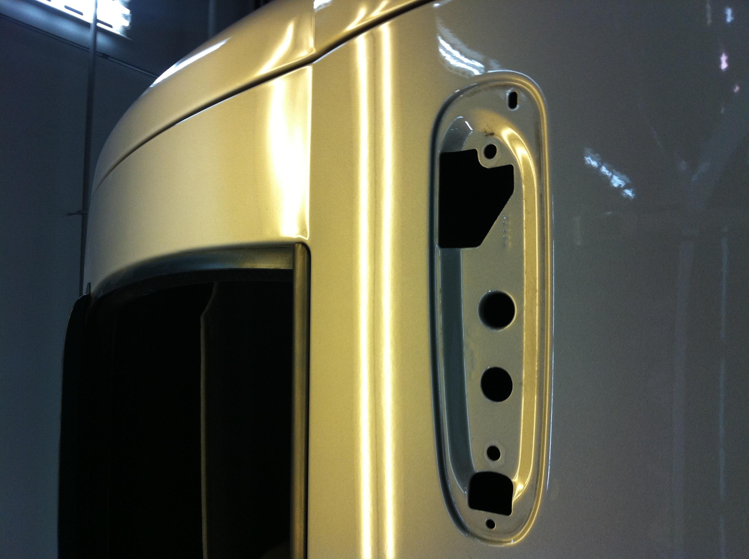 Door Dents on Truck Door/ After