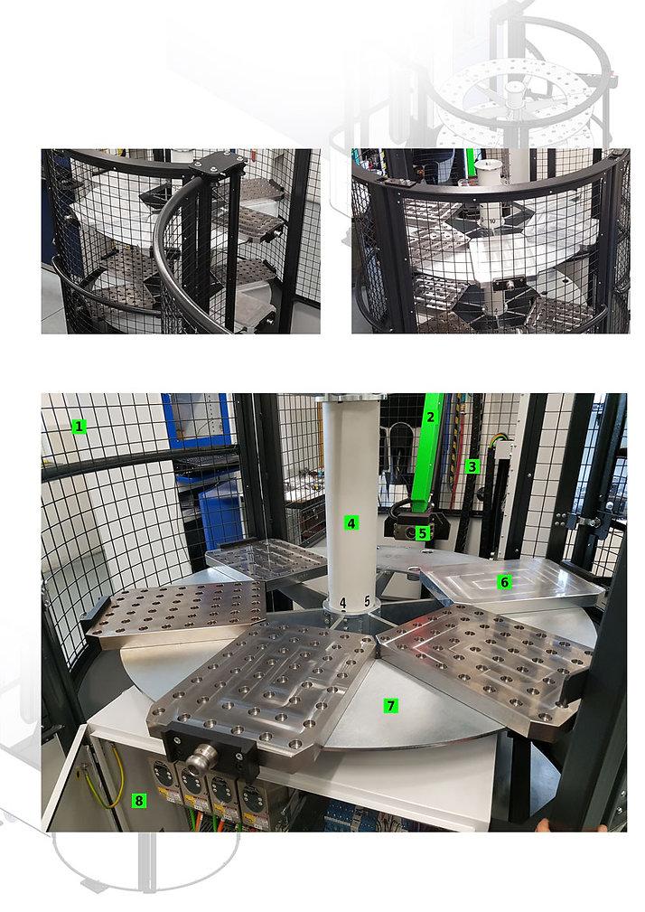 Zásobník automatizace Viceloader s paletami 300x400