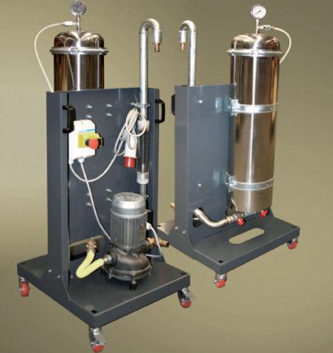 filtr pevných částic v suspenzi