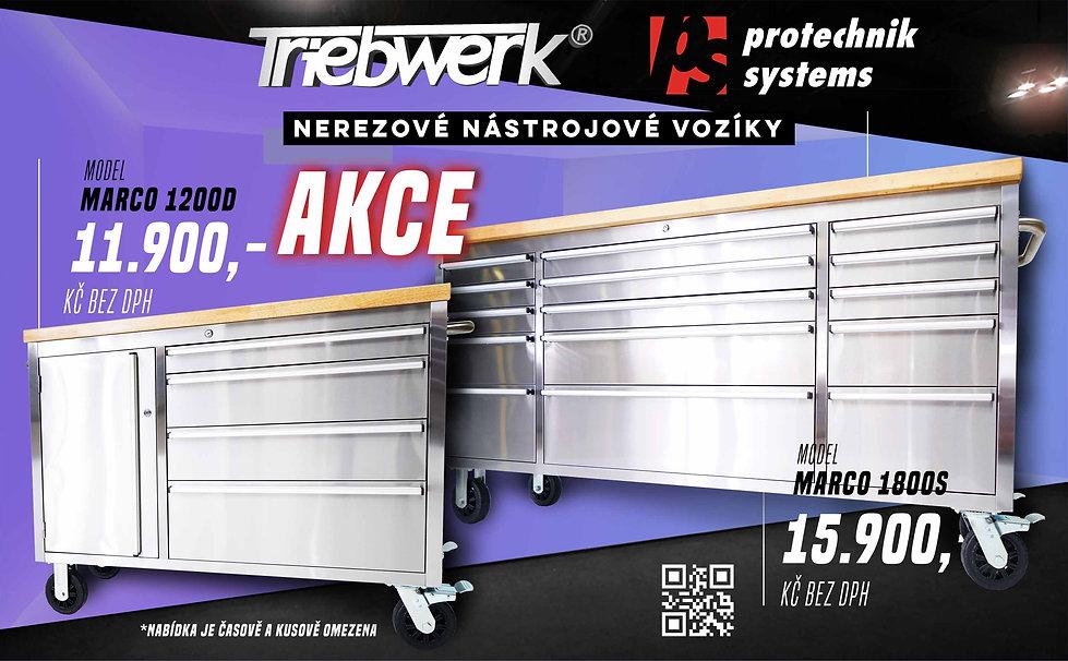 nerezové nástrojové vozíky Triebwerk akce