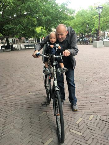 YESSSS!!!! Biking in Amsterdam. Finally!!!!