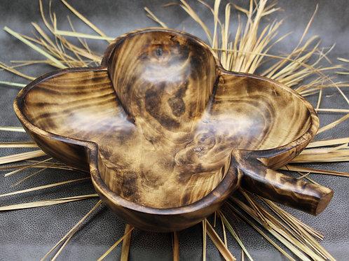 Jacaranda Wood 4 Leaf Clover Bowls