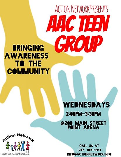 AAC Teen group recruitment flyer 2019 fi