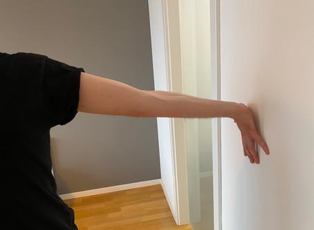 Physiotherapie Hausbesuch bei Bizepssehnen-Entzündung