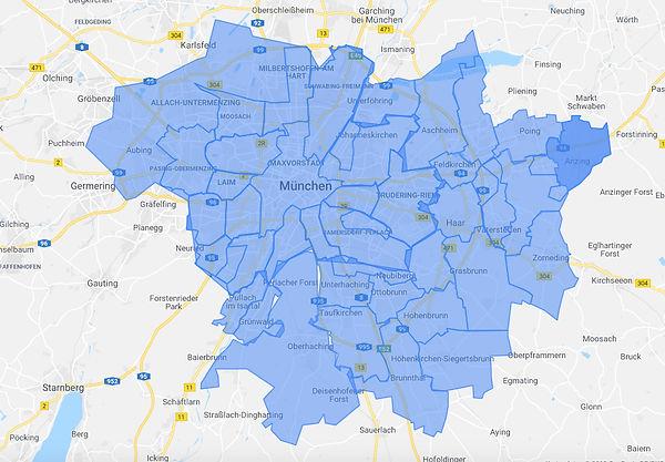 PhysioStich Regionen München Umland