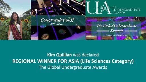 Kim Global Undergraduate Awards Regional