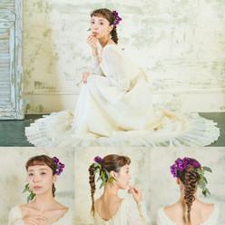 シンプルな中に少し遊びゴコロを加えた大人かわいい花嫁スタイル