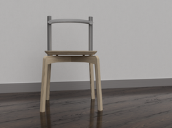 Initial Render on Fusion 360 of Stacking Chair