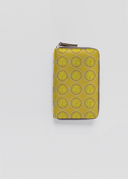 MANIPURA CHAKRA leather zip around wallet