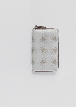 Presence leather zip around wallet
