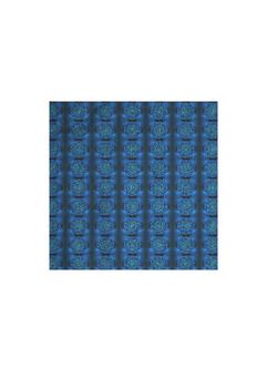 MYSTIC BLUE ROSE men's cotton pocket square