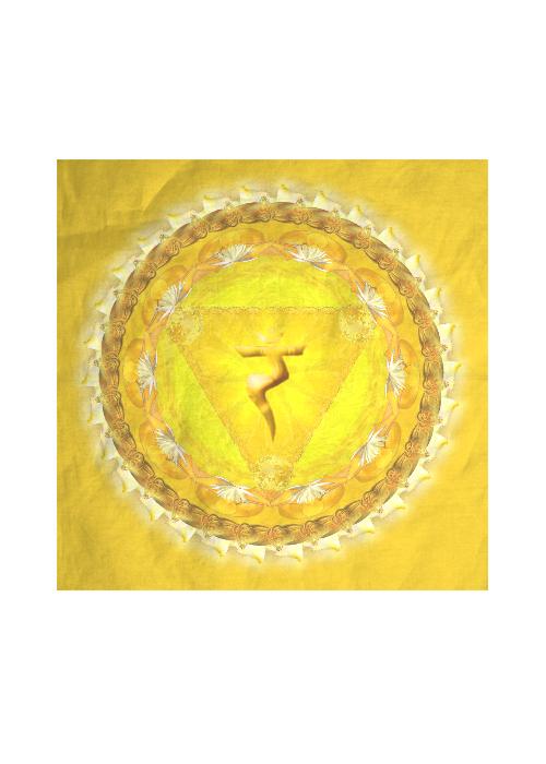 MANIPURA CHAKRA silk square scarf