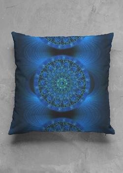 MYSTIC BLUE ROSE pillow matte square