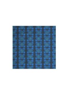 MYSTIC BLUE ROSE mens silk pocket square