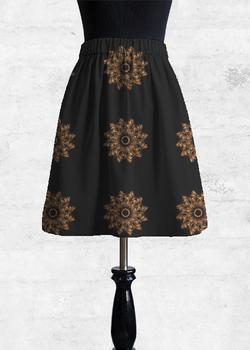 Autumn Feathers  cupro skirt