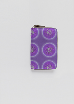 SAHASRARA CHAKRA leather zip around wallet