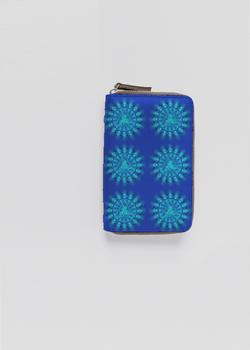 VISUDDHA CHAKRA  leather zip around wallet