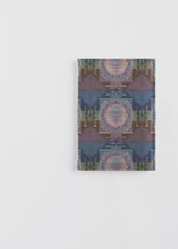 leather passport case sri yantra