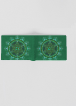 ANAHATA CHAKRA leather slimfold wallet