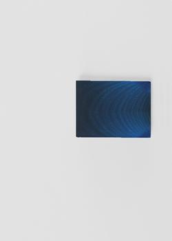 MYSTIC BLUE ROSE leather slimfold wallet b