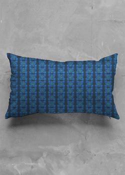 MYSTIC BLUE ROSE luster oblong pillow