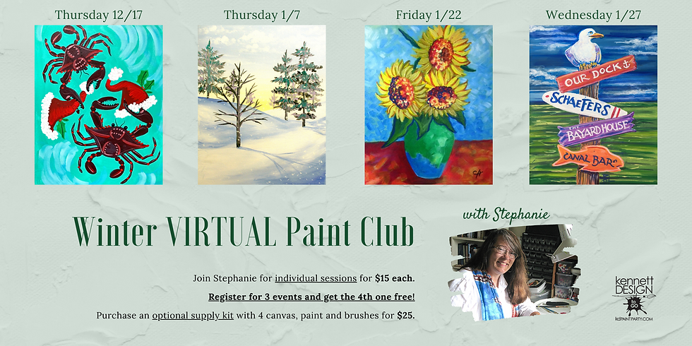 Winter VIRTUAL Paint Club with Stephanie