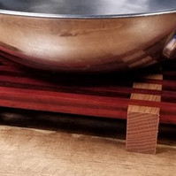 Paduak & Red Oak Trivet