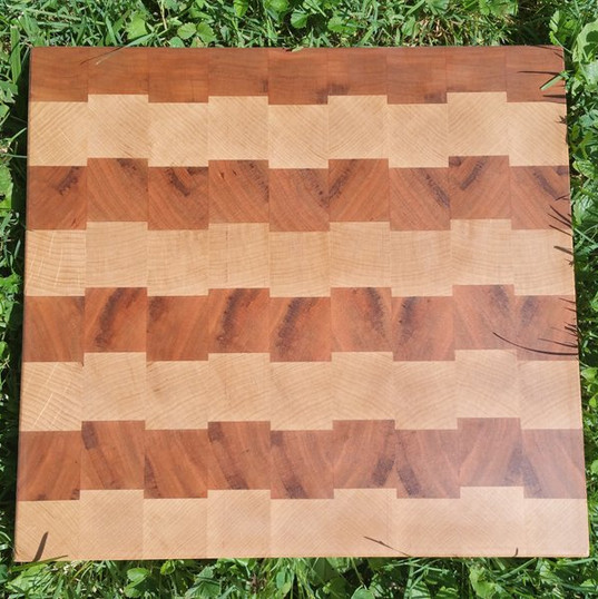 Maple and Cherry offset checkered patter