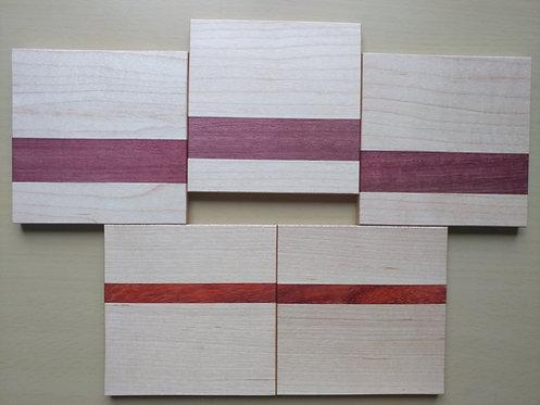 "Scrapwood Coaster Set of 5     - 3.75"" x 3.75"""
