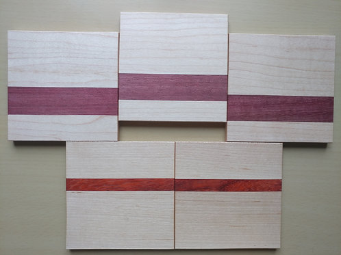 "Scrapwood Coaster Set of 5     - 3.75"" x 3.75"""