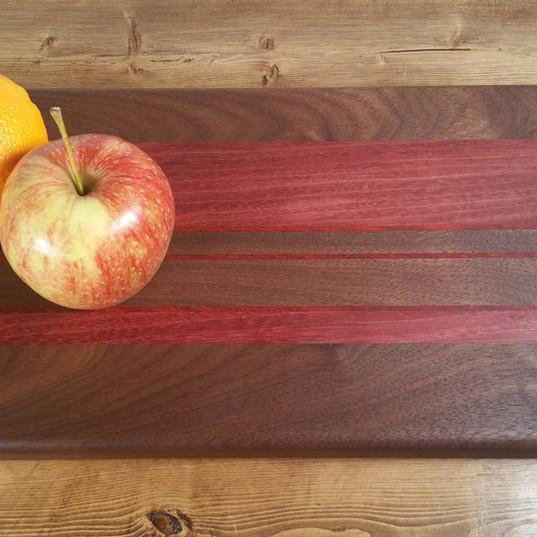 Medium Black Walnut and Purpleheart Board