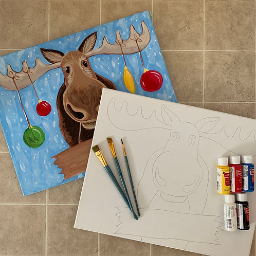 Holiday Moose - Painting Kit