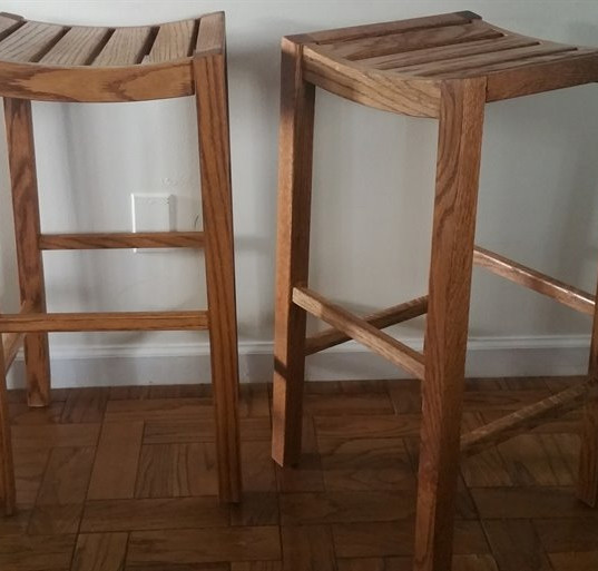 Red Oak Bar Stools