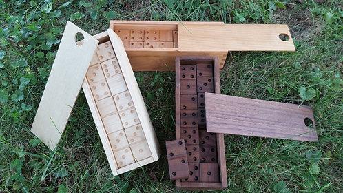 """Wooden Dominoes  -  8 3/4"""" x 2 3/4"""" x 2 1/2"""""""