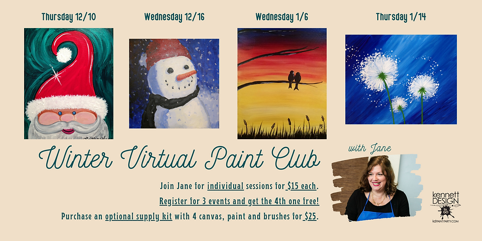 Winter VIRTUAL Paint Club with Jane