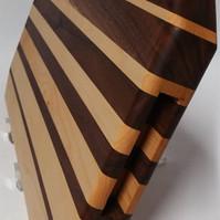 Custom Maple and Black Walnut face grain