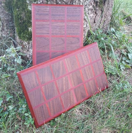 Black Walnut, Padauk and Purpleheart Boards