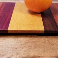 Cherry, Purpleheart, Yellowheart & Black Walnut Board